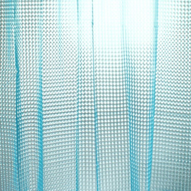 3D Blue Flourish Diamond Shower Curtain