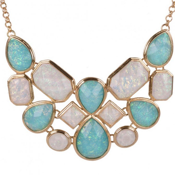 Mystic Blue Iridescent Necklace