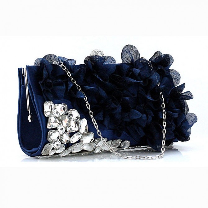 Pedal Flower Purse,  Blue