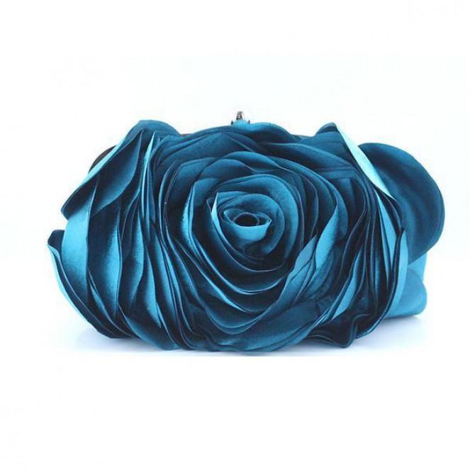 3D Rose Purse,  Blue