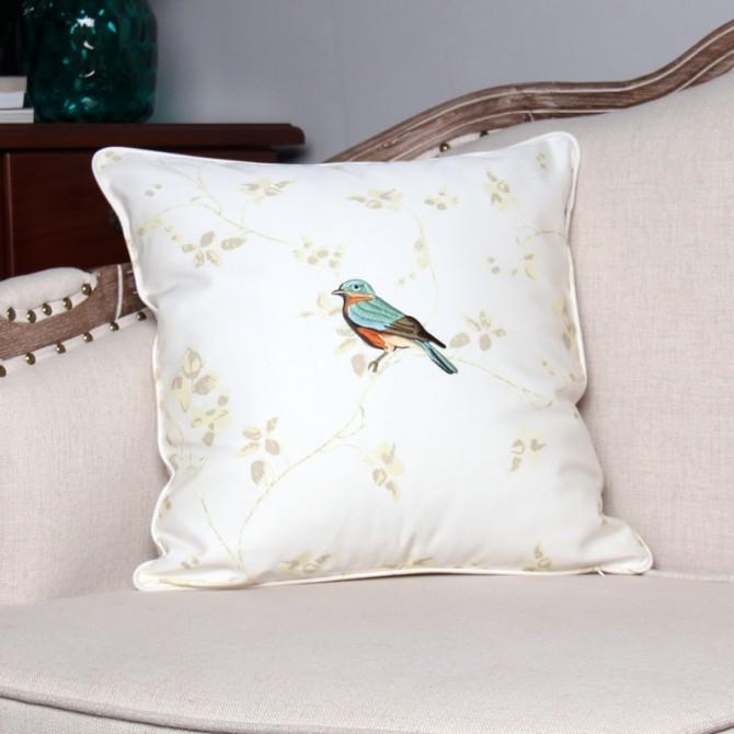 Blue Bird Decorative Pillow Cover