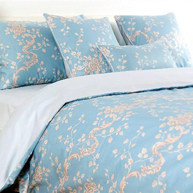 Blue Cherry Flower Duvet Cover Set