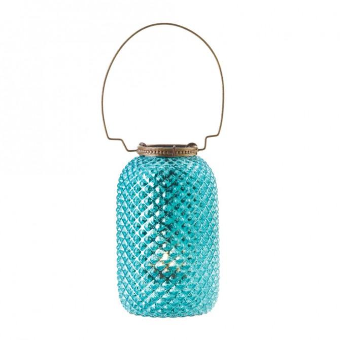 Blue Diamond Candle Lantern