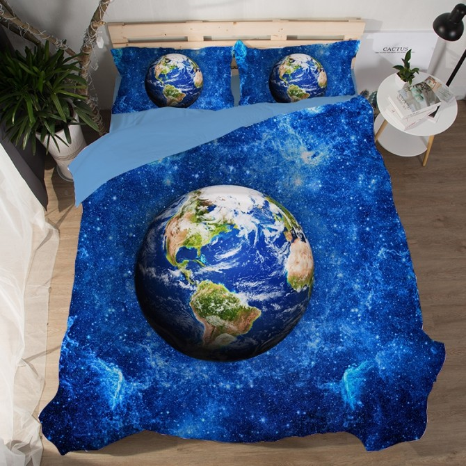 Blue Planet Earth Duvet Cover Set