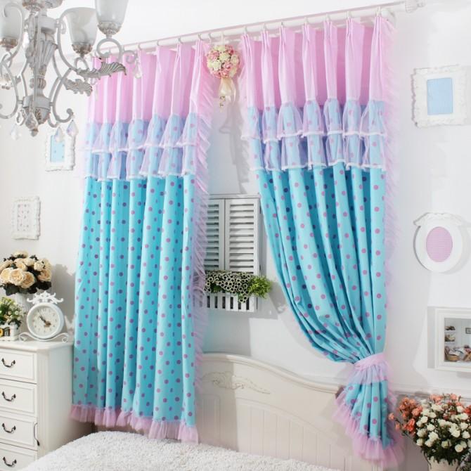 Polka Dot Dream Ruffle Curtain Set