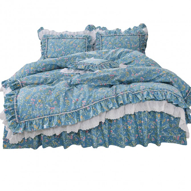 Country Double Ruffle Duvet Cover Set
