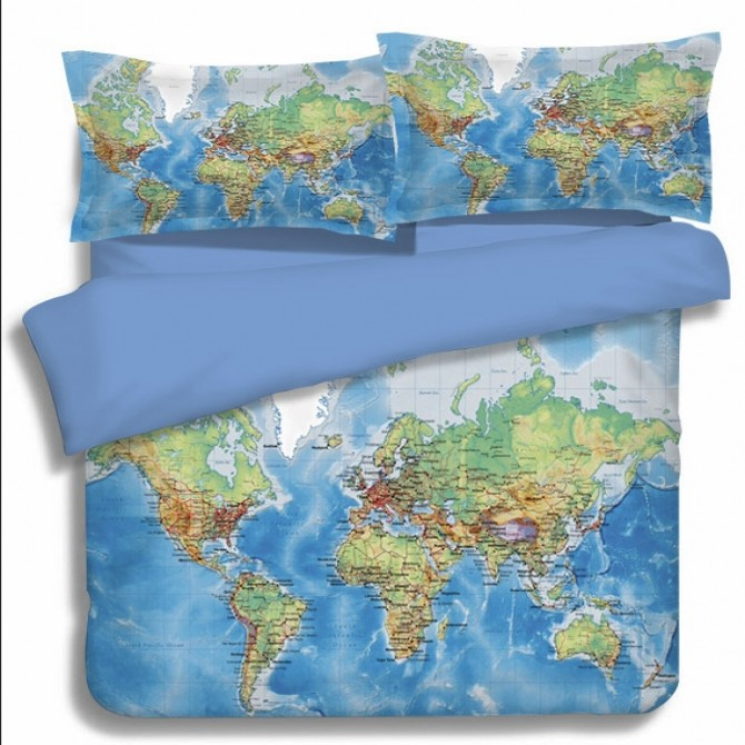 World map scenery duvet cover set bedding world map duvet cover set gumiabroncs Choice Image