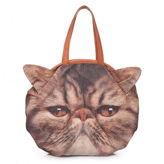 Brown Persian Cat Bag