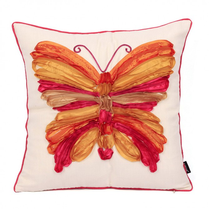 Butterfly Cushion Cover, Orange