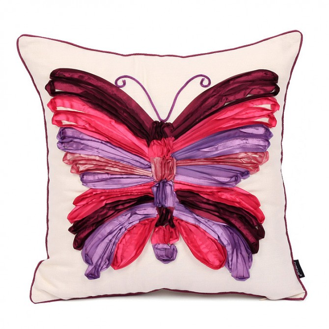 Butterfly Cushion Cover, Purple