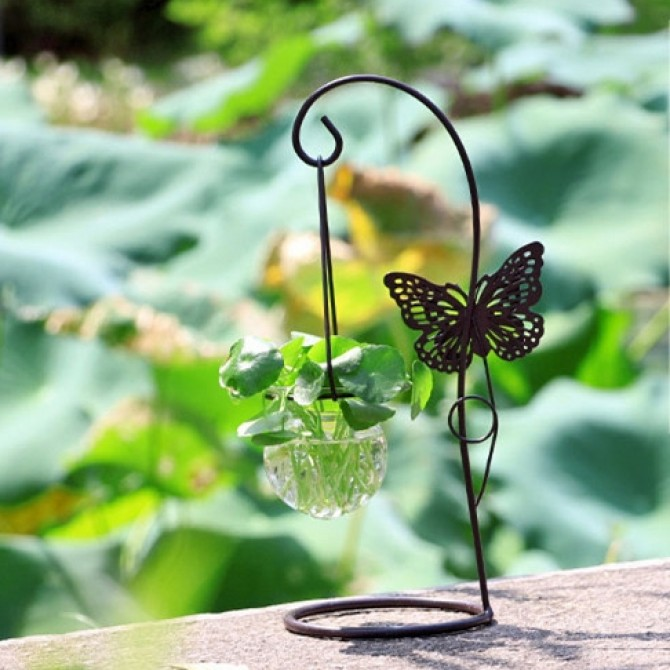 Butterfly Tabletop Hanging Vase