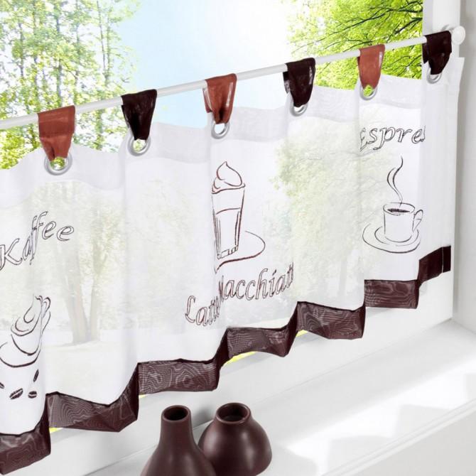 Kaffee Kitchen Curtain