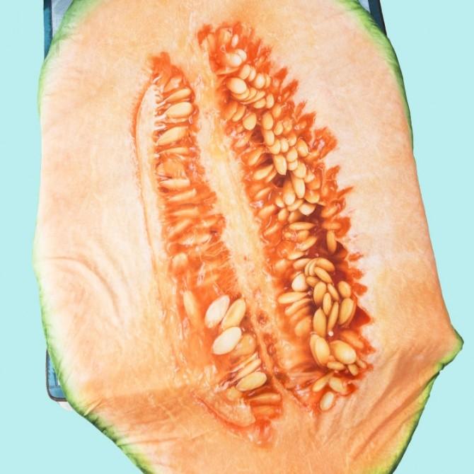 Cantaloupe Melon Throw Blanket