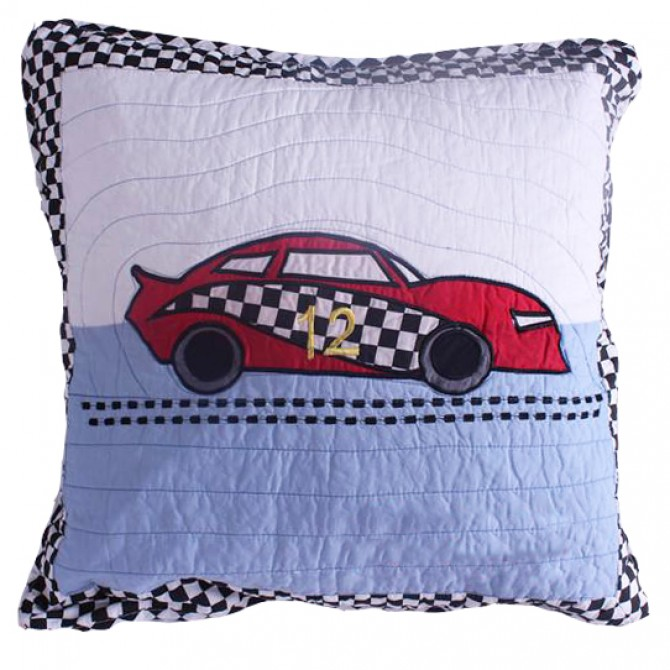 Racing Car Quilt Cushion Cover