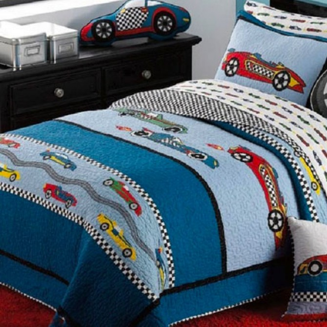 Racing Cars Quilt Bedding