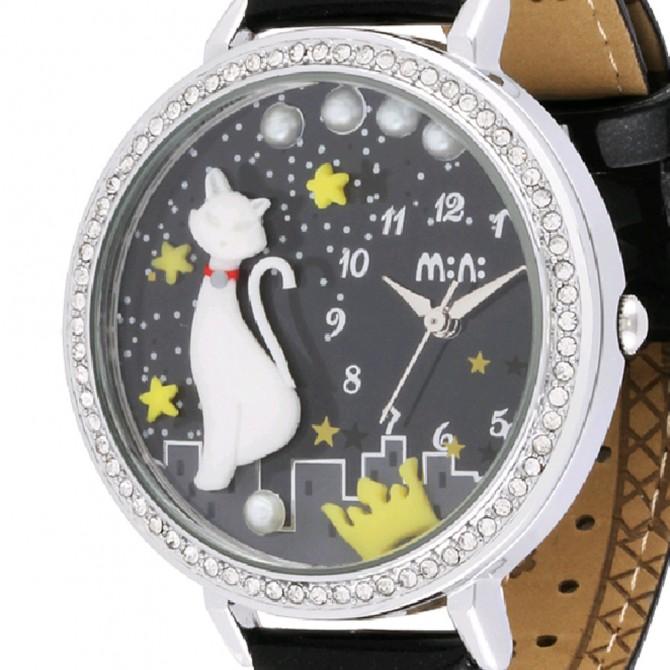 Cat 3D Watch, Silver Frame