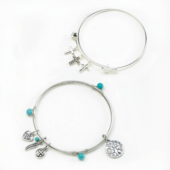 Charming Bangle Bracelet Set