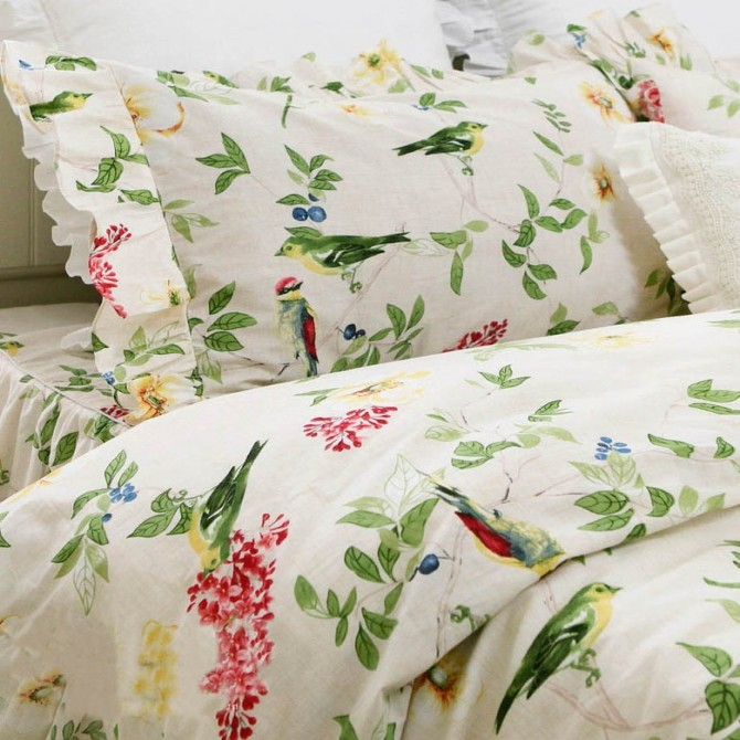Chirping Birds Duvet Cover Set