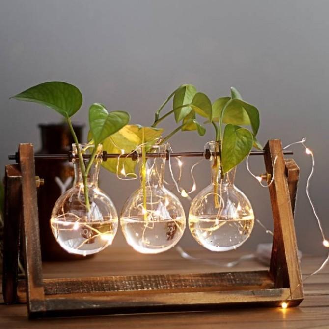 Glass Ball Tabletop Planter