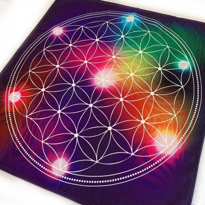Colorful Six Petal Rosette Table Topper