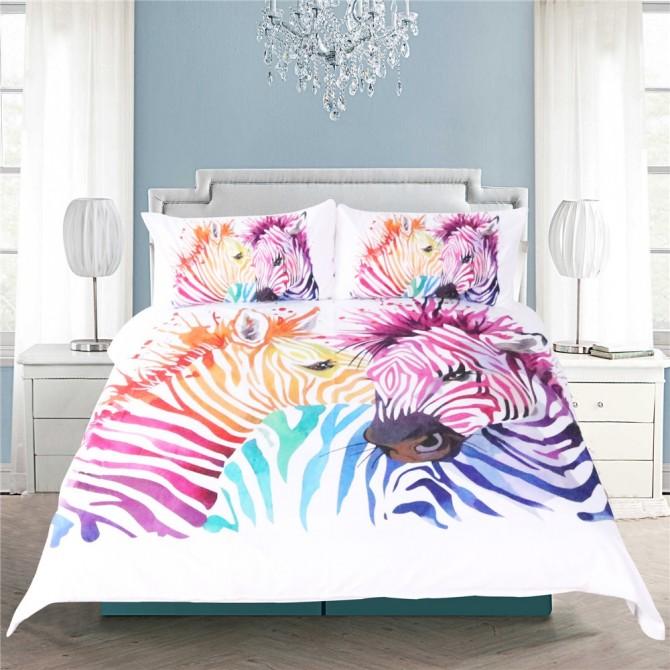 Zebra Duvet Cover Set