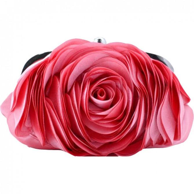 3D Rose Purse, Coral