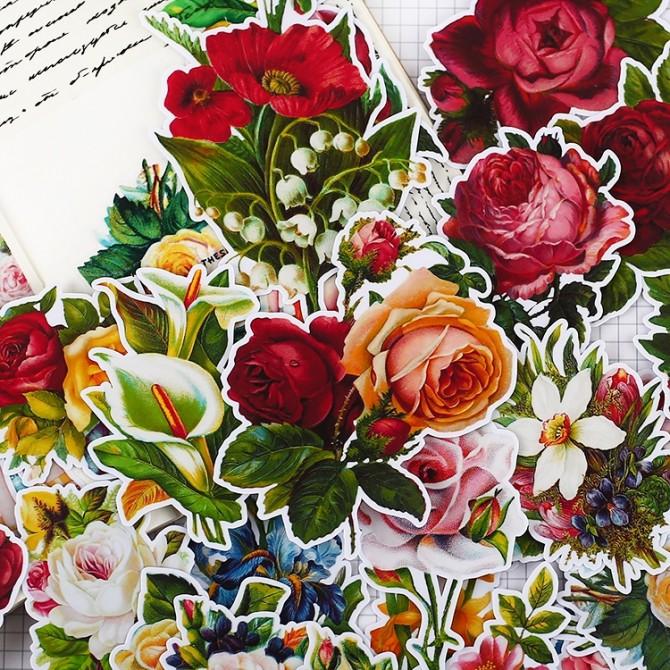 Victorian Vintage Roses Sticker