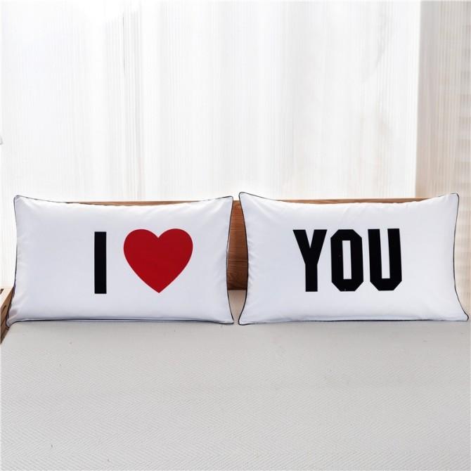 I Love You Pillowcase (1 pair)