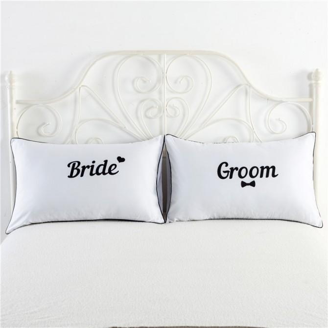 Bride & Groom Pillowcase (1 pair)