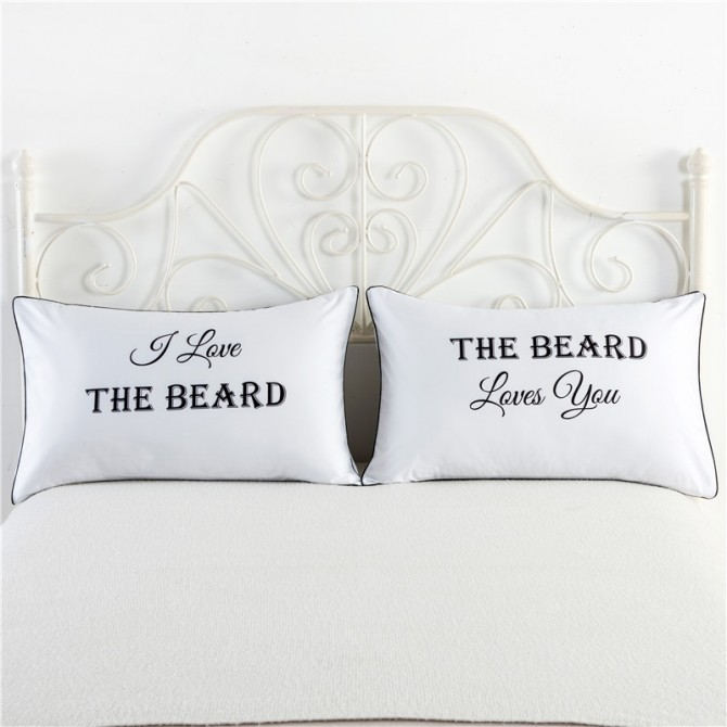 I Love the Beard Pillowcase (1 pair)