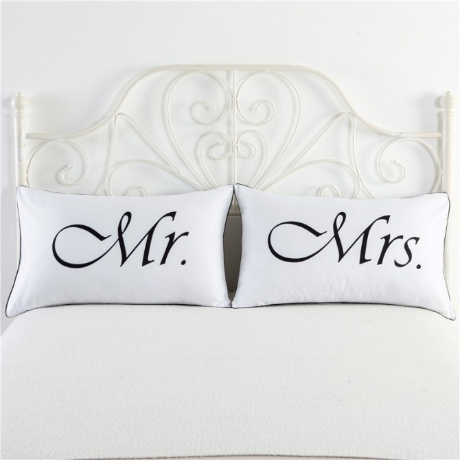 Mr Mrs Pillowcase (1 pair)