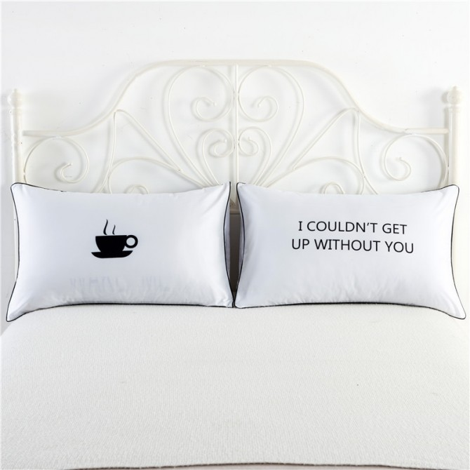 I Couldn't Get Up Without You Pillowcase (1 pair)