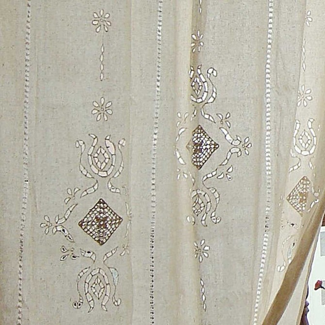 Everlasting Handcrafted Cutwork Crochet Curtain