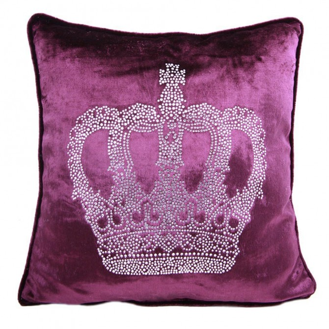 Royal Crown Crystal Cushion Cover