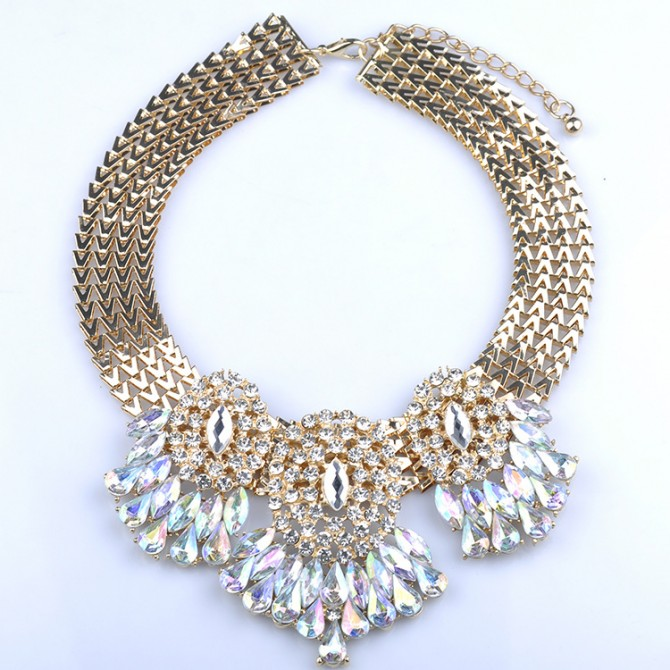 Queen's Aurora Borealis Necklace
