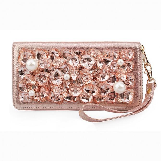 Gemstone Purse,  Pink