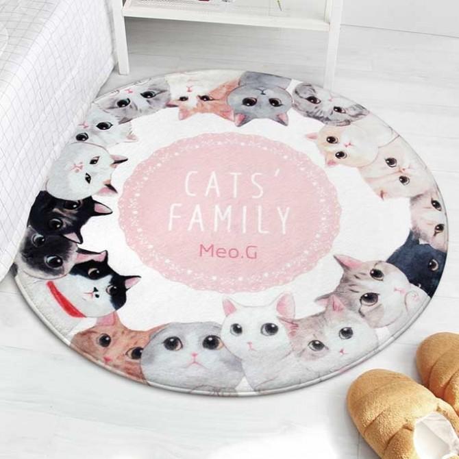 Cat's Family Mat