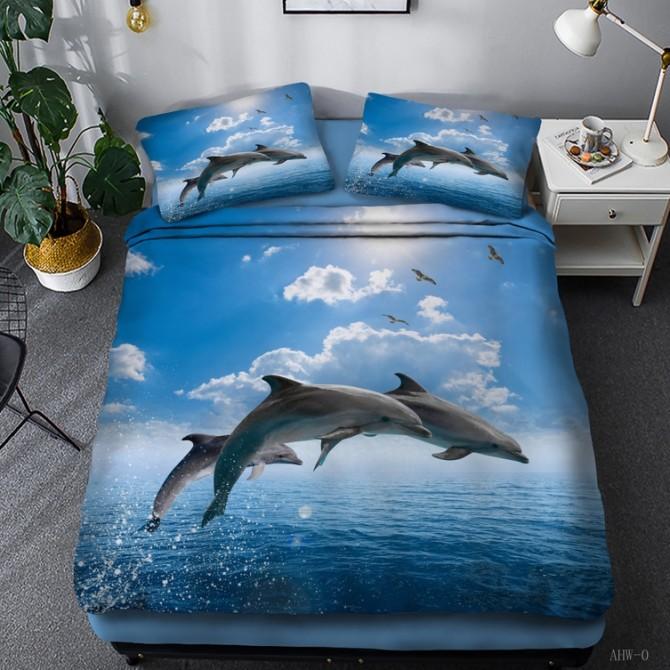 Dancing Dolphin Duvet Cover Set 2