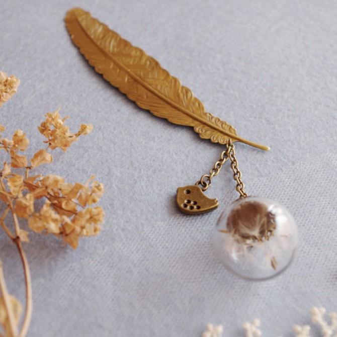 Golden Feather Dandelion Bookmark