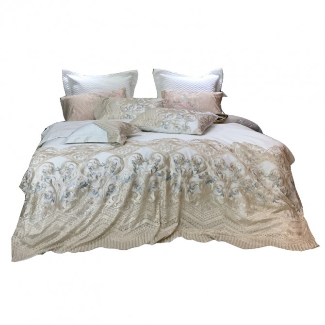 Delicate Italian Lace Duvet Cover Set-Ivory