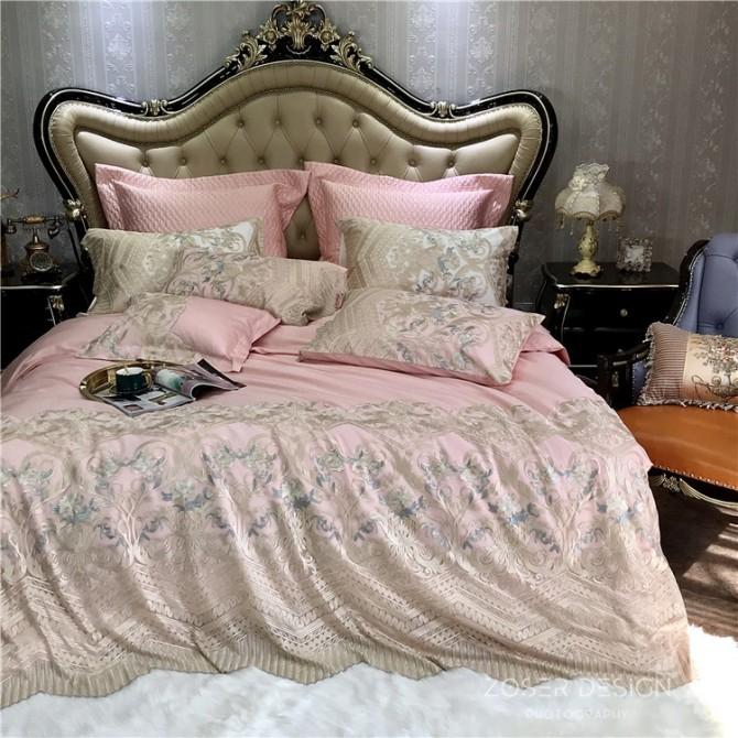 Delicate Italian Lace Duvet Cover Set-Pink