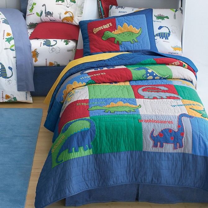 Dino Land Quilt Bedding Set