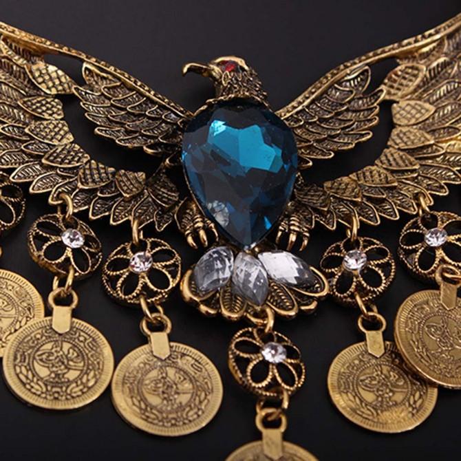 Vintage Blue Eagle Necklace