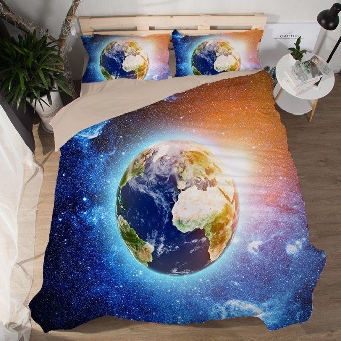 Blue Planet Earth B Duvet Cover Set