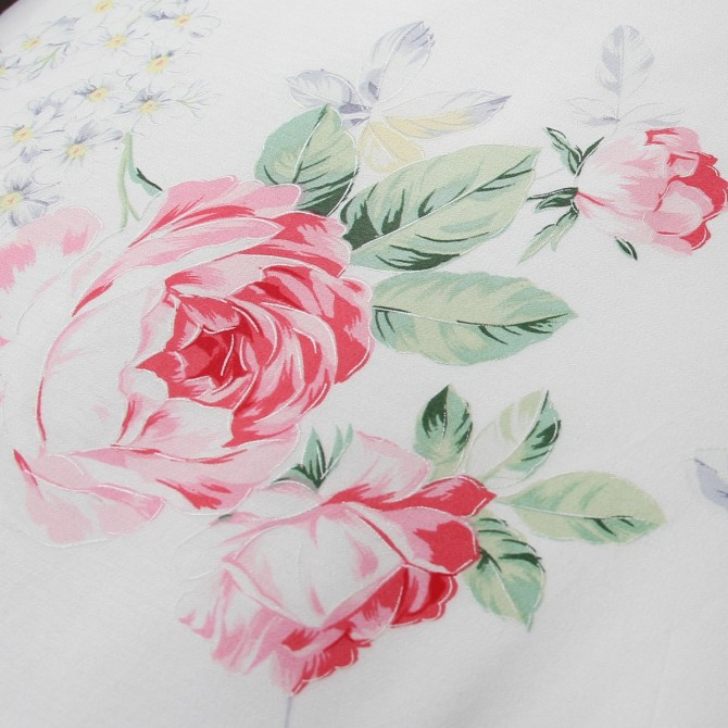 Rose Garden Ruffled Duvet Cover Set