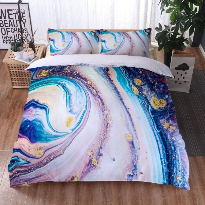 Marble River Duvet Cover Set 4