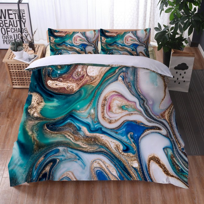 Marble River Duvet Cover Set 5