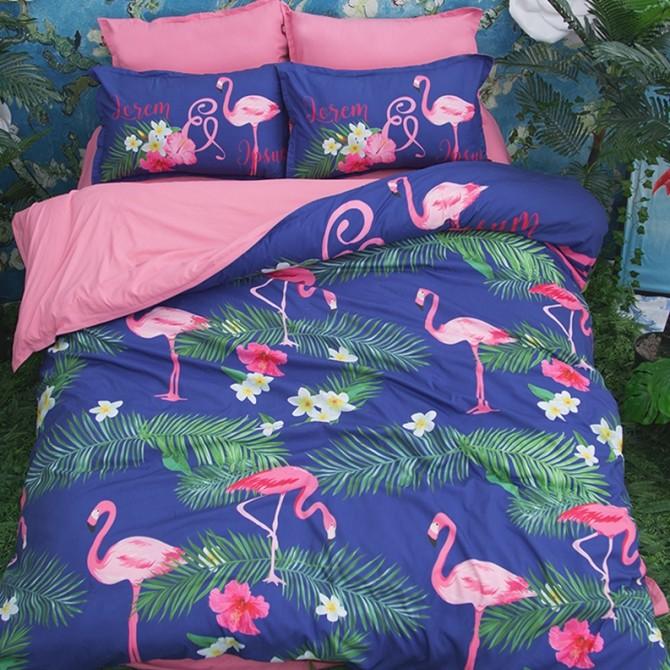 Flamingos Duvet Cover Set