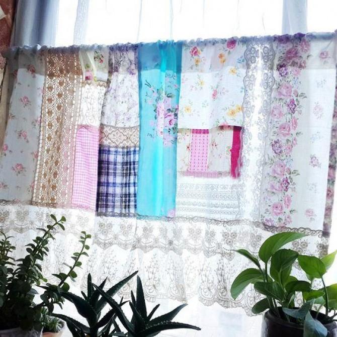 Romantic Lace Quilt Valance