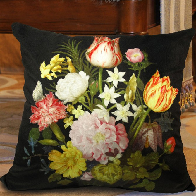 Flower Bouquet Cushion Cover B